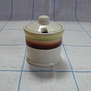 McNicol China Chartreuse Mustard / Condiment Jar
