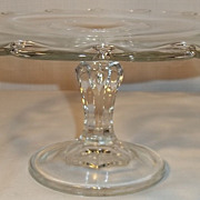 Indiana Glass Teardrop Pedestal Cake Plate