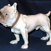 Bing & Grondahl B&G tough bull dog figurine - 1676 BP - scrappy fellow