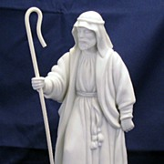 Avon White Christmas Nativity Collectibles - Porcelain Bisque - The Shepherd figurine