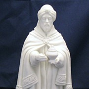 Avon White Christmas Nativity Collectibles - Porcelain Bisque - The Magi Balthasar figurine