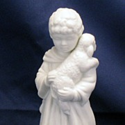 Avon White Christmas Nativity Collectibles - Porcelain Bisque - Shepherd Boy figurine