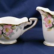 Noritake Azalea  mini creamer and open sugar set - red mark