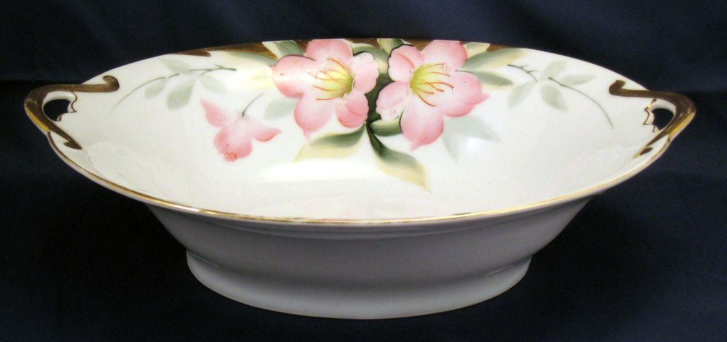 Noritake Azalea  Oval Vegetable Serving Bowl - red mark