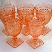 Pink Miss America water goblet - Depression Glass - several available