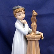 "Lladro ""Little Sculptor"" ""Nino escultor reflexivo"" Figurine # 5358 - beaut"