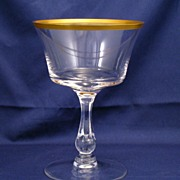 Fostoria Richmond Gold Rim Champagne or Tall Sherbet Goblet - #6097 - several available