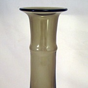 Mid-Century Gral Art Glass Vase - Smokey gray
