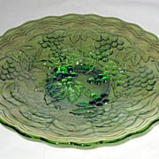 Imperial Glass Grapes Helios Green Carnival plate