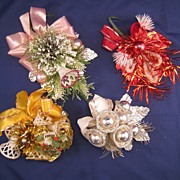 Vintage Christmas Corsage & package toppers - Christmas bells