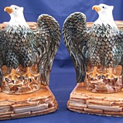 Pennsbury Pottery Eagle bookends - pair