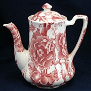 Johnson Brothers Red English Chippendale Coffee Pot