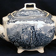 Johnson Brothers Old Britain Castles Blue Teapot