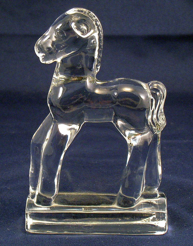Fostoria Glass Horse or Pony or Colt Figurine