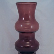 Mid-Century Blown Amethyst Purple Glass vase