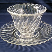 Fostoria Glass Colony Mayonnaise bowl and underplate - nice mayo set