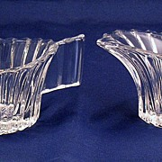 Heisey Glass Ridgeleigh Creamer & Sugar Set