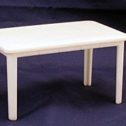 Plasco Doll House Miniature white table