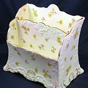 Cauldon Desk Letter holder - cheery yellow buttercup & daisy floral