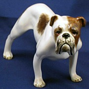 Gort bulldog dog figurine - hard to find Gort pottery