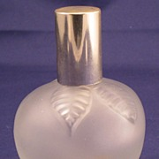 Green Apple Max Factor vintage frosted perfume bottle