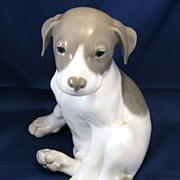 Royal Copenhagen Pointer Puppy Dog Large Figurine 259 - Antique - sweet sleepy puppy