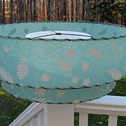 Mid-Century fiberglass vintage two tier retro lamp shade