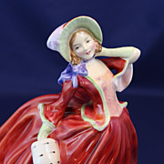 Autumn breezes HN 1934 Royal Doulton pretty lady figurine