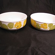 Noritake Flower Time Progression  9072 dessert fruit sauce bowls - pair