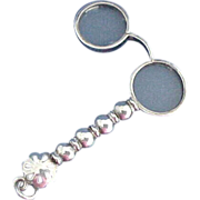 Adorable Sterling Silver Lorgnette or Opera Glasses for Chatelaine