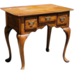 English Queen Ann Burl Wood Small Work Table