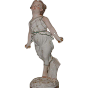 SALE Antique Italian Porcelain Figure of Athletic Girl