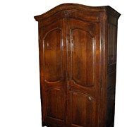 SALE Superb Antique 18C French Country Armoire or Linen Press
