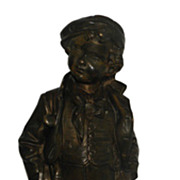 Rare Antique Bronze Sculpture of a Sportsman Boy by Picciole
