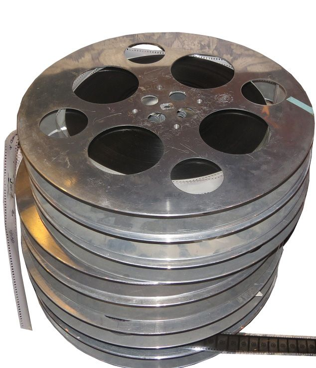 "7 35mm Aluminum Film Reels With Film ""Confessions of a Married Man"" with Robert Conrad"