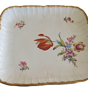 Unusual Antique Hand Painted Sarreguemines Porcelain Platter or Tray