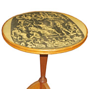 Unusual Piero Fornasetti Style Italian Modernist Table