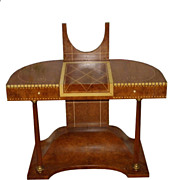 SALE Unusual Ruhlmann Style Art Deco Dressing Table Vanity Desk
