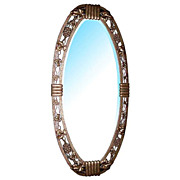 33.122 Art Deco wrought iron mirror
