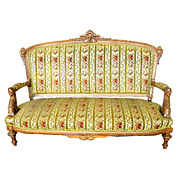 Beautiful 19th C. Victorian Sofa w/Carved Ladies Heads by Jelliff.