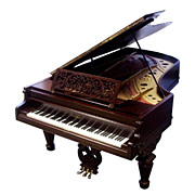 Chickering Antique Parlor Grand Piano