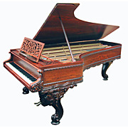 Beautiful Art Case Rosewood American Chickering 9' Concert Grand Piano