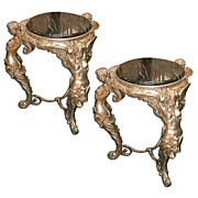 14.4754 PR. French figural side tables
