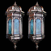 Fantastic pair of 19th C. Bronze Sconces.