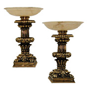 Pair of Magnificent Judges Desk Courthouse Torcheres
