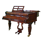 Beautiful Antique Rosewood Case Piano by Broadwood