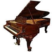Antique Rosewood Wm. Knabe & Co. Concert Grand Piano
