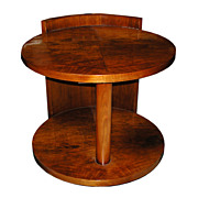 Fabulous Round Art Deco Center Table