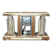 Original 1920's Marble Art Deco Clock .