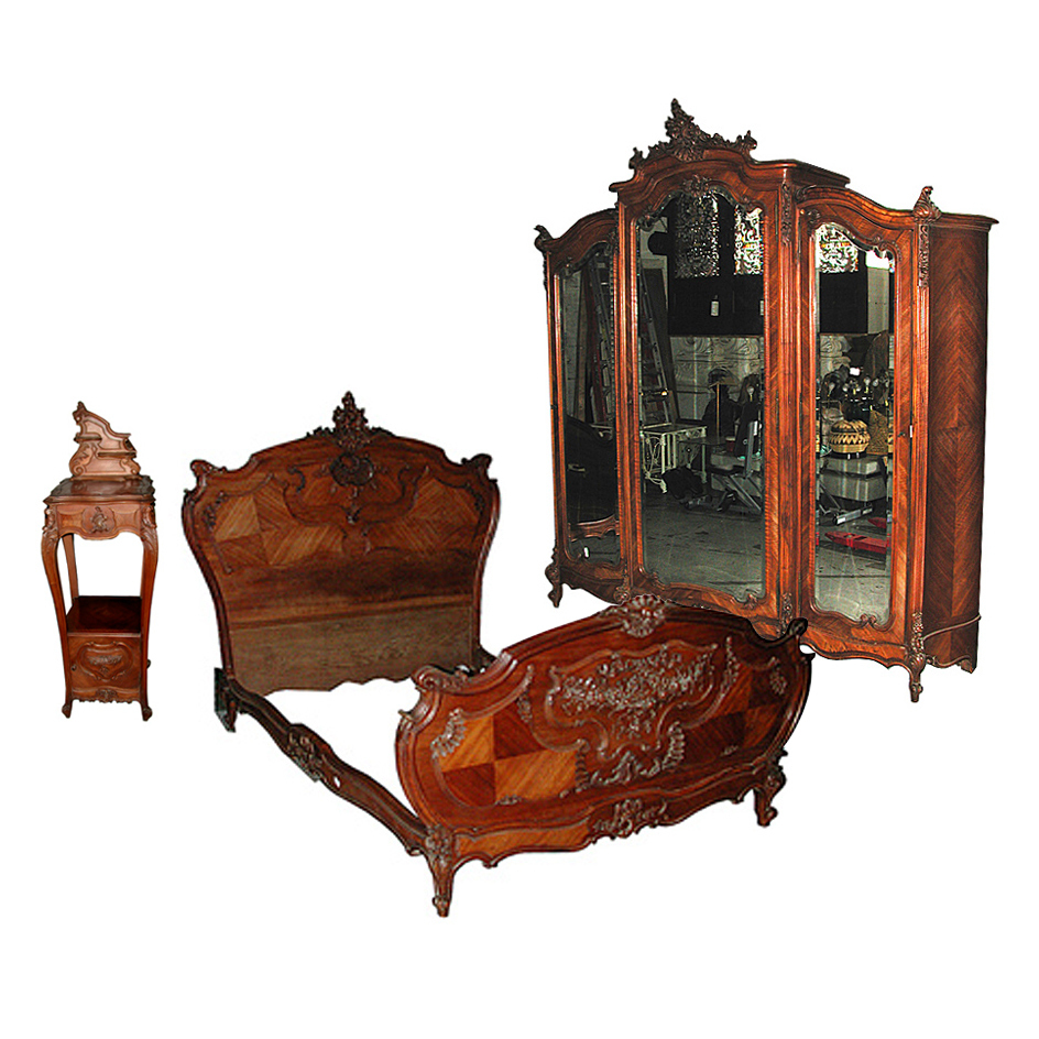 5724 beautiful 3 piece french renaissance revival antique bed set from